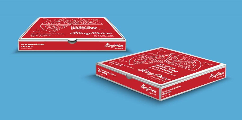 Pi Advertising King Price Pizza Box Mockup